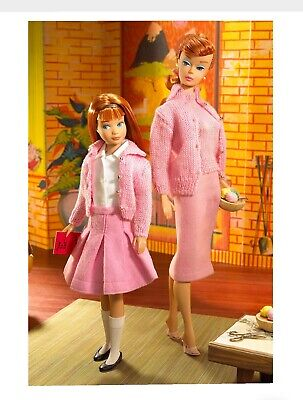 Rare Barbie & Skipper Knitting Pretty Dream House Giftset K7967 Gold Label NRFB