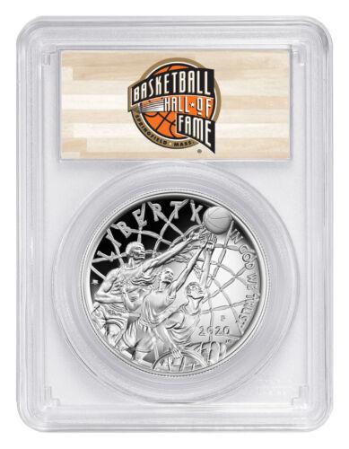 2020 P $1 Basketball Hall of Fame Silver Dollar Proof PCGS PR70 DCAM FS PRESALE