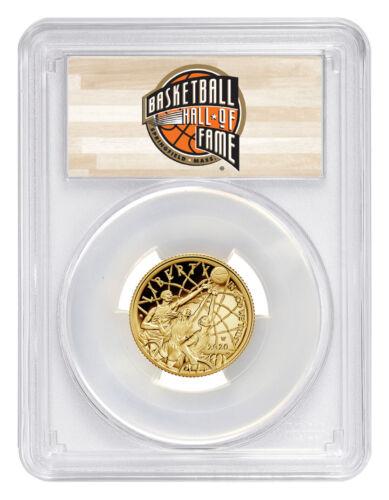 2020 W $5 Basketball Hall of Fame Gold Proof Coin PCGS PR70 DCAM FS HOF PRESALE