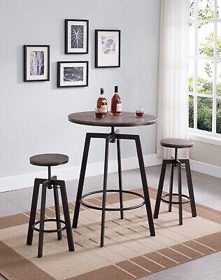 3-Piece Adjustable Dining Bar / Pub Set, 29