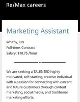 Marketing Assistant - Re/Max Office Whitby