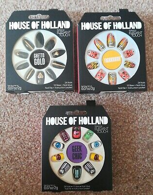 House Of Holland Nails By Elegant Touch Ghetto Gold, Geek Chic, Tigrrrrrr Bundle