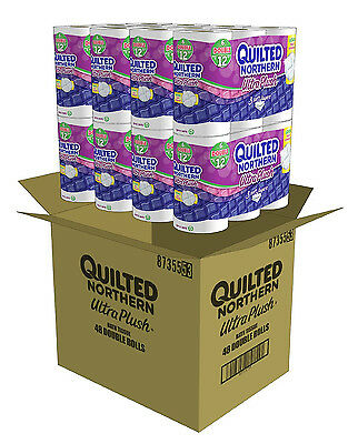 Ultra Plush Bath Tissue Quilted Northern 48 Double Rolls Toilet Paper Bulk Lot