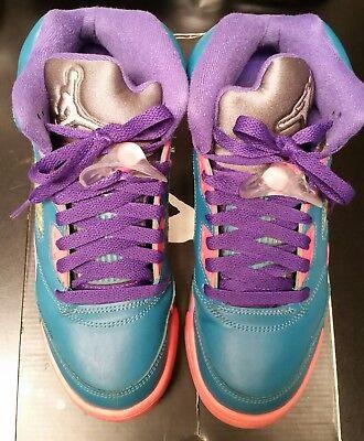 size 40 ba8af 19a5e PREOWNED- AIR JORDAN V 5 Girls Basketball Shoes Size US 4.5Y 440892-307