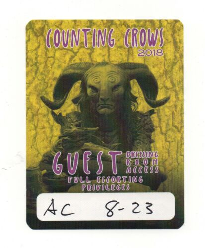 Counting Crows 2018 Tour Satin Guest Backstage Pass