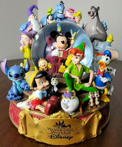 The Wonderful World Of Disney Musical Snow Globe When You Wish Upon a Star