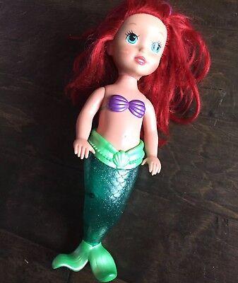 "15"" Little Mermaid Tail Doll Bath Pool Waterproof Toy Girls Disney Princess"