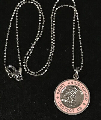 Gold Plate Heavy Curb Chain Patron Saint Travelers//Motorists 1 X 1 5//8 14kt Gold Filled St Christopher Pendant