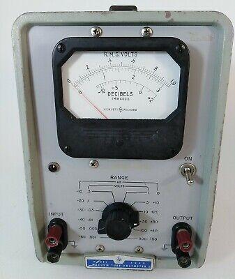 Vintage Hewlett Packard Hp Vacuum Tube Voltmeter