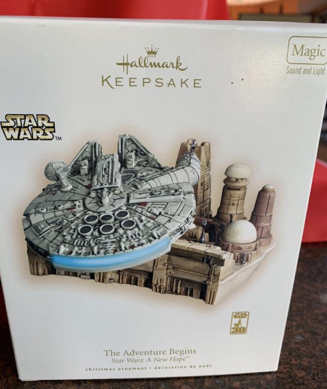The Adventure Begins A New Hope 2007 Hallmark MAGIC Ornament STAR WARS QXI4339