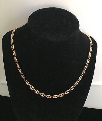 Vintage Italy 14kt Yellow Gold Puffed Gucci Mariner Link Chain ~17.7 Grams~20.5""