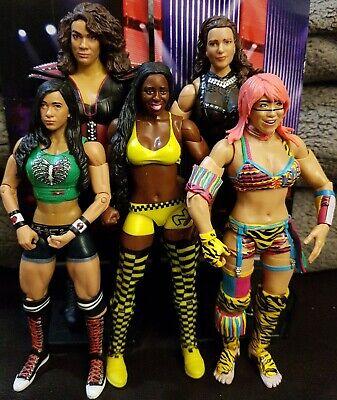 WWE Mattel Divas Womens Division 5 Figure Bundle Nia Jax Aj Lee Naomi Asuka