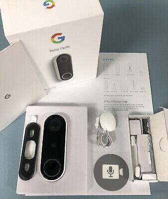 Nest Hello Smart Wi-fi Video Doorbell Google doorbell (NC5100US) MINT GREAT