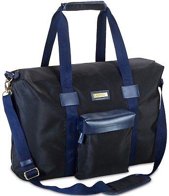 Versace Parfums Weekender dust bag Large Black Blue Travel men back to (Versace School Bag)