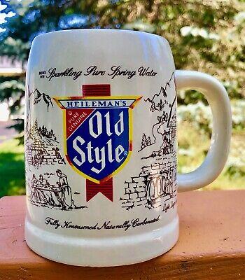 Vintage Old Style Beer Porcelain Mug Stein G Heileman La Crosse, Wisconsin NOS