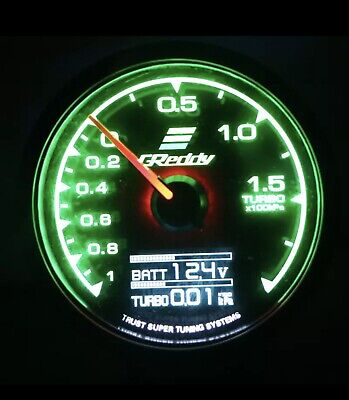 Greddy Boost gauge! Brand New. Changeable Colours.