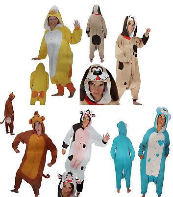 Plüsch-Overall Kostüm Affe Kuh Teddybär Küken Hund Verkleidung - Plüsch Affe Kostüme