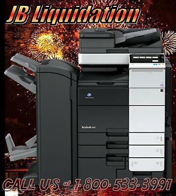 Konica Bizhub C554e Color Copier Booklet Maker Professional Printerscanner