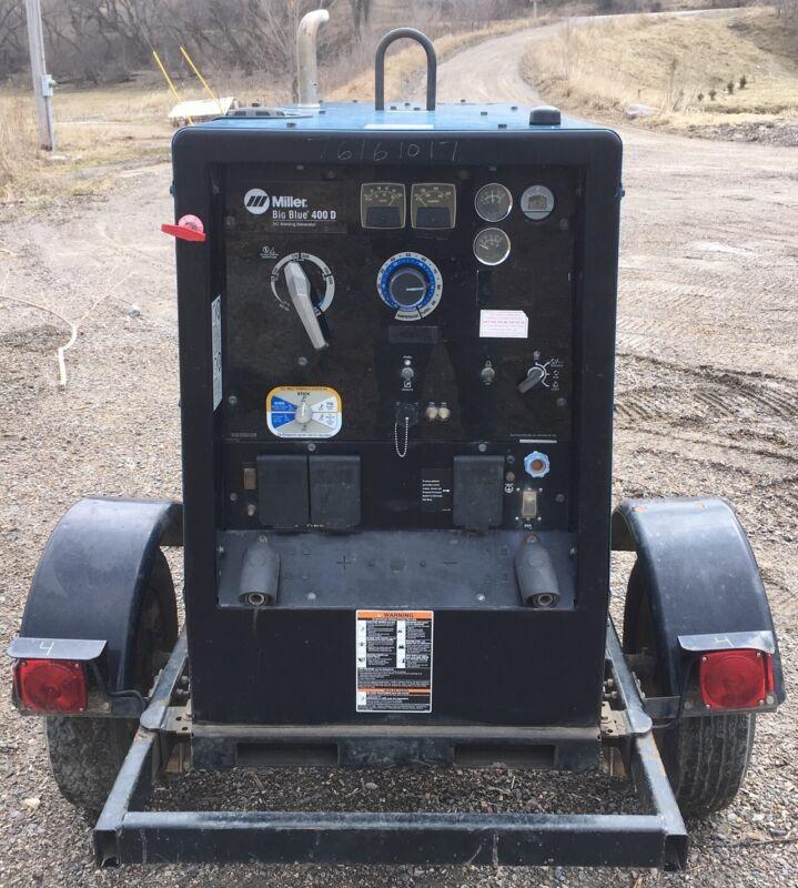 2013 Miller Big Blue 400 Welder Generator Deutz Diesel Engine