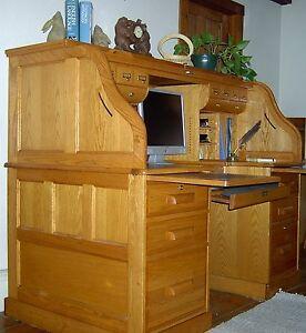 """Winners ly Roll Top Oak puter Desk 61"""" Adjusts"""