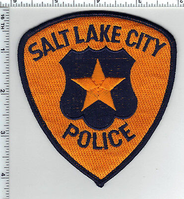 Salt Lake City Police (Utah) Orange Background Shoulder Patch from the 1980's