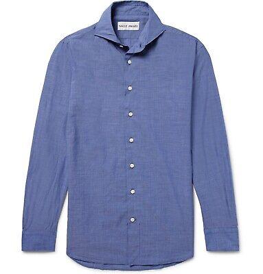 Salle Privée Blue Evron Slim Cutaway-Collar Poplin Shirt 15 38 Privee Mr Porter