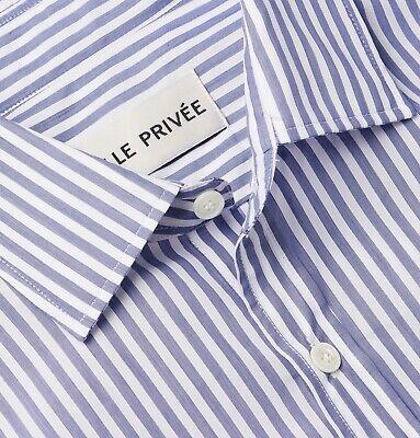 Salle Privée Blue Curtis Slim Cutaway-Collar Poplin Shirt 15 38 Privee Mr Porter