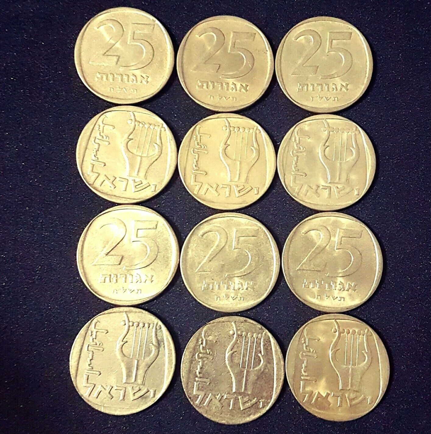 Private collection 50 coins 10 Agora 1960 Old Israel Israeli Coin Agorot lot