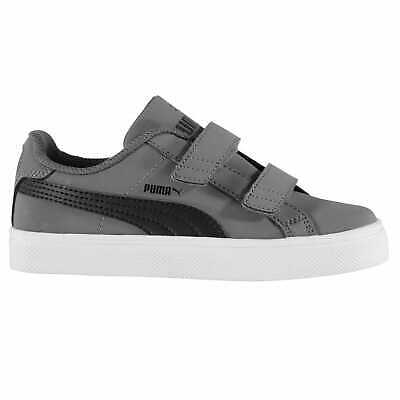 Puma Kids Boys Smash Vulc Child Strap Trainers Sports Shoes Low Top Lace Up Flat