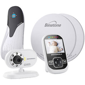 new motorola mbp26 digital video baby monitor babysense 5 breathing sensor pad ebay. Black Bedroom Furniture Sets. Home Design Ideas