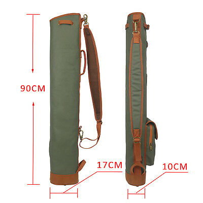 Tourbon Golf Club Carrying Bag Sunday Case Sport Pack Canvas Leather Lightweight Green Canvas Carrying Case
