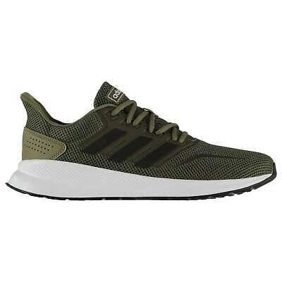 Adidas Men Running Shoes Runfalcon Training Workout White Gym KHAKI