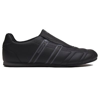 Slazenger Mens Warrior Trainers Sports Shoes Low Slip On Leather Upper