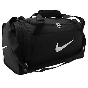 Nike Brasilia XS Grip Duffle Bag Black/White Gym Sports Bag Genuine