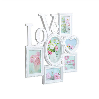 Valentine's Day 6-Opening Picture Frame Collage for Wall and Tabletop Decoration - Decoration For Valentine's Day