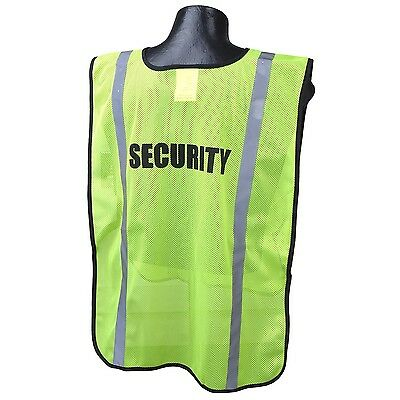 Full Source Reflective Security Safety Vest Yellowlime
