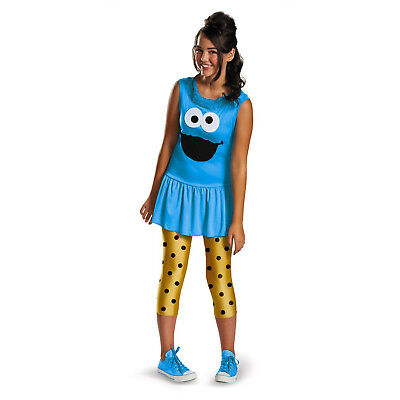Tween Sesame Street Costumes (Sesame Street Cookie Monster Tween Classic Costume | DISGUISE)