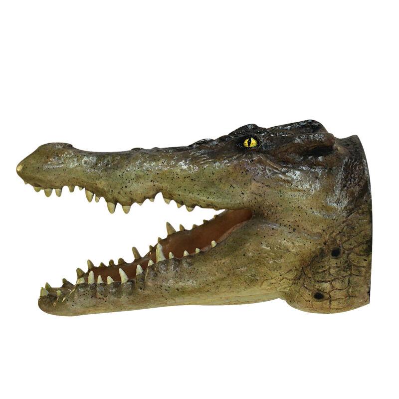 "Crocodile Wall Mount Head Life Size 19"" Alligator Reptile SALE"