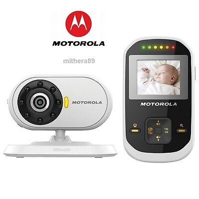 Motorola MBP18 Digital LCD COLOUR Video Sound BABY MONITOR CCTV Camera DECT VGC.