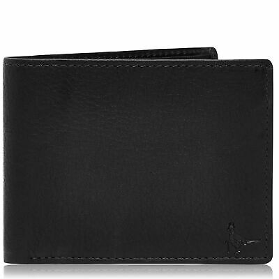Unisex Jack Wills Bassington Leather Bi Fold Wallet Zip New