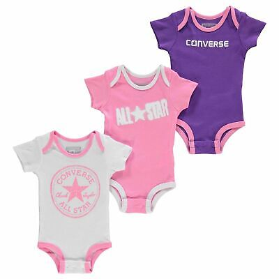 Set 3 Tlg Body Suits Kleinkind Baby Neu Geboren Converse All Star 0 - 6 Monaten ()