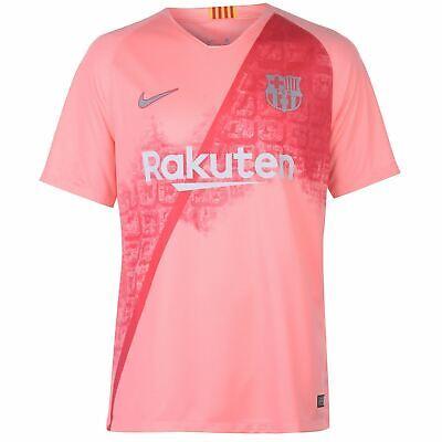 Nike Barcelona Third Jersey 2018 2019 Herren Rosa Silber Fußball Hemd (Barcelona Nike Rosa)