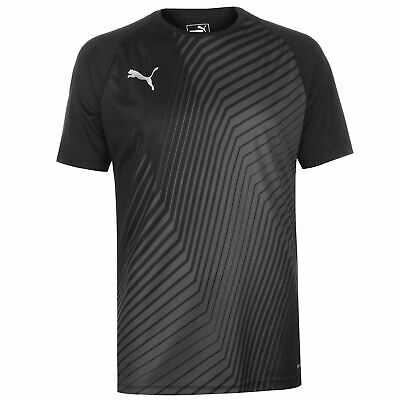 Puma Graphic T Shirt Mens Gents Short Sleeve Performance Tee Top Crew Neck Slim