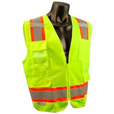 Radians Class 2 Reflective Surveyor Safety Vest With Pockets Yellowlime