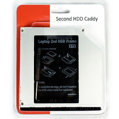 "New Second HDD Caddy SATA 9.5mm Optical Drive 2.5"" Adapter -Dell Vostro/Latitude for sale  Shipping to India"