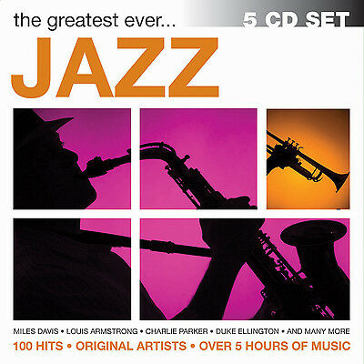 BEST JAZZ SONGS EVER New Sealed 5 CD OVER 5 HOURS OF MUSIC