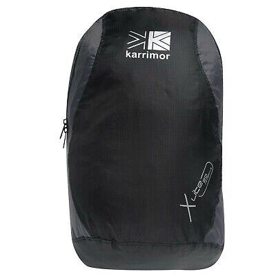 Karrimor Packable Rucksack Black/Charcoal Bag Backpack Carryall