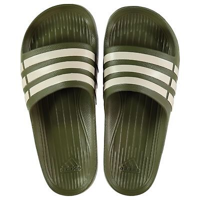 NEW Adidas Mens Duramo Sliders Flip Flops Cargo/Chalk SIZES 6-12 LIMITED ED