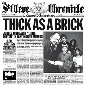 JETHRO TULL THICK AS A BRICK 180 GRAM VINYL LP (Steven Wilson 2012 Remix) (2015)