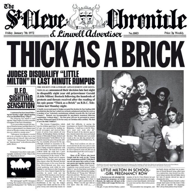 JETHRO TULL - THICK AS A BRICK (Steven Wilson 2012 Remix): CD ALBUM (2015)